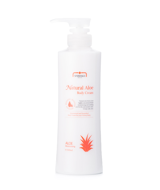 Глубоко увлажняющий восстанавливающий крем для тела Natural Aloe Body Cream 500 мл