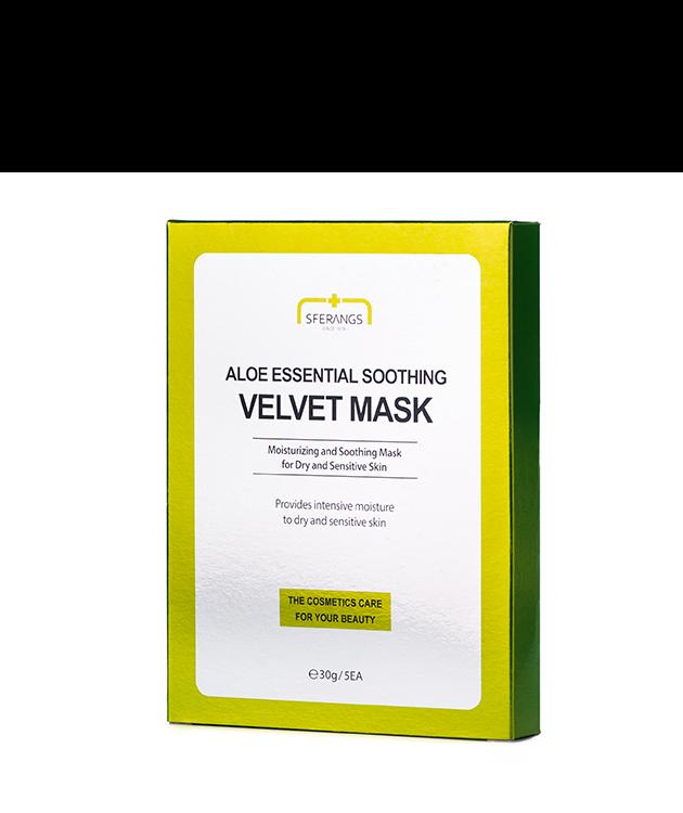 Увлажняющая тканевая маска Aloe Essential Soothing Velvet 30 гр * 5 шт