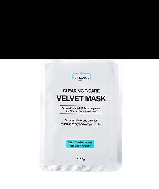 Очищающая тканевая маска Clearing Т-care Velvet 30 гр