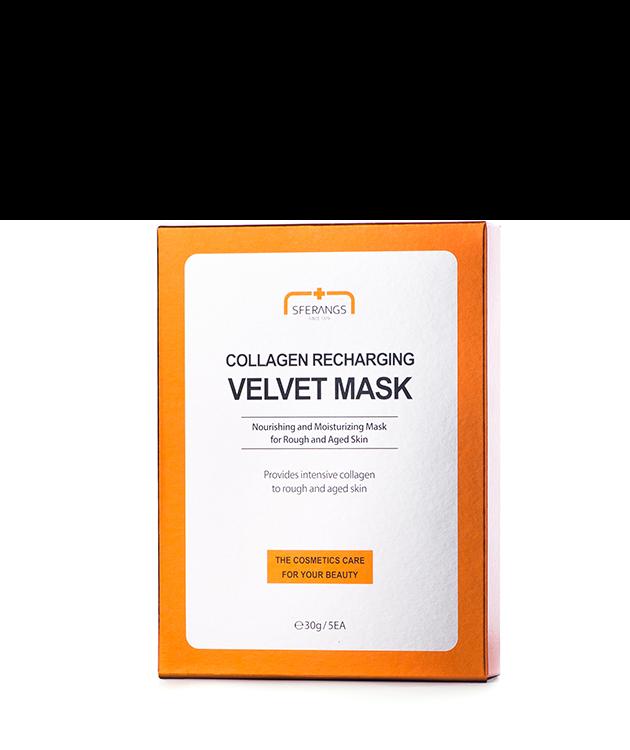 Тканевая маска для восстановления синтеза коллагена Collagen Recharging Velvet 30 гр * 5 шт