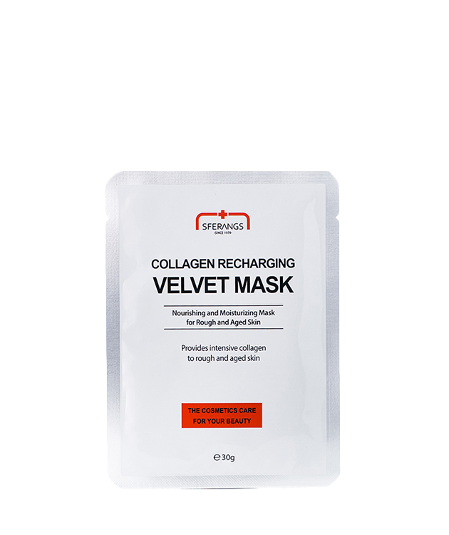 Тканевая маска для восстановления синтеза коллагена Collagen Recharging Velvet 30 гр