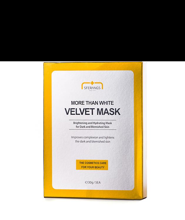 Отбеливающая тканевая маска More Than White Velvet 30 гр * 5 шт