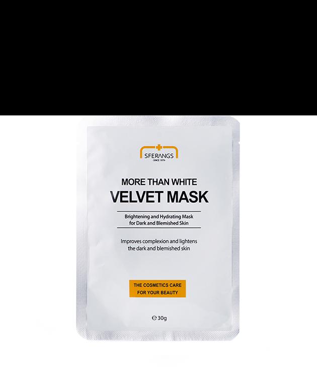 Отбеливающая тканевая маска More Than White Velvet 30 гр